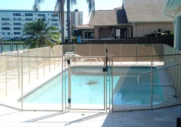 Beige Pool Fences